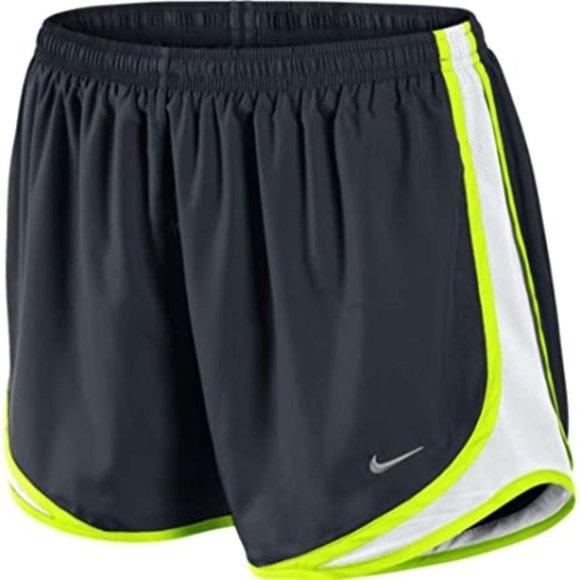 Neon green Nike shorts